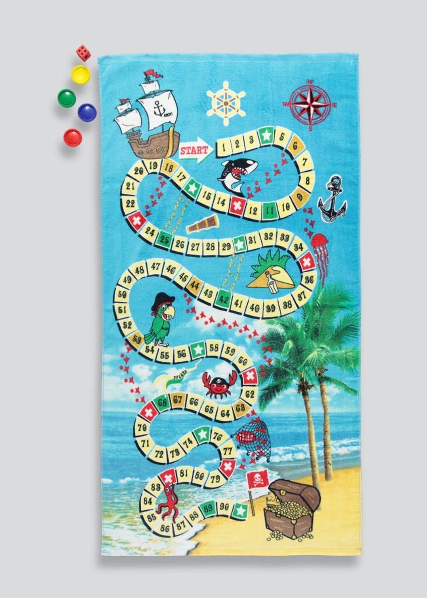 Pirate Snakes & Ladders Beach Towel Set