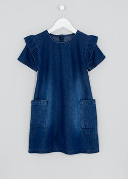 Girls Denim Frill Dress (7-13yrs)