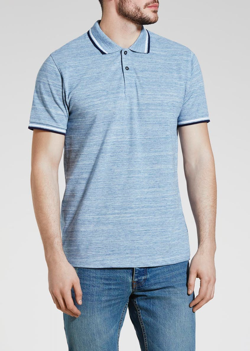 Textured Tipped Polo Shirt