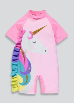 Girls Unicorn Surf Suit (3mths-5yrs)