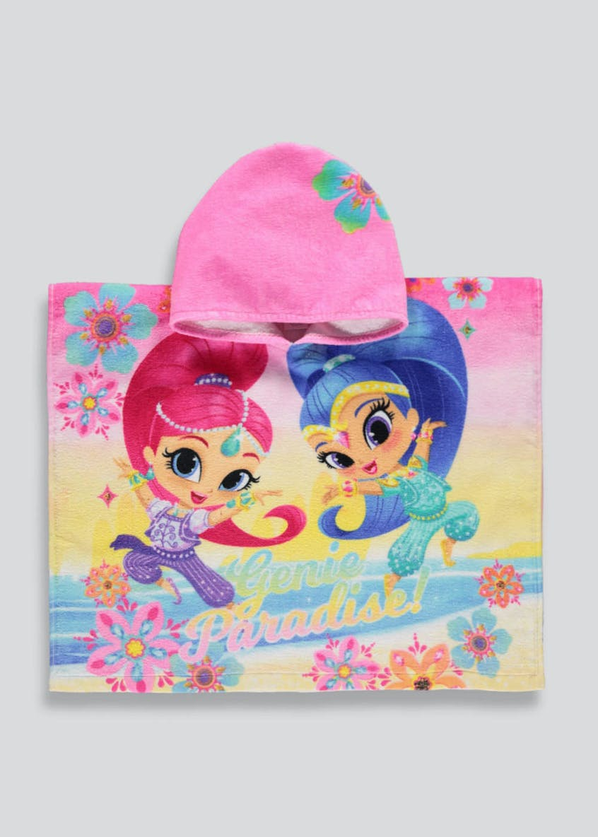Kids Shimmer and Shine Hooded Towel Poncho (One Size)