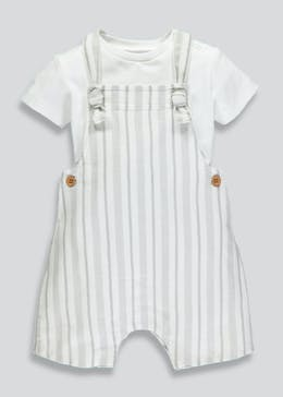 Unisex Stripe Dungaree & Bodysuit (Newborn-18mths)