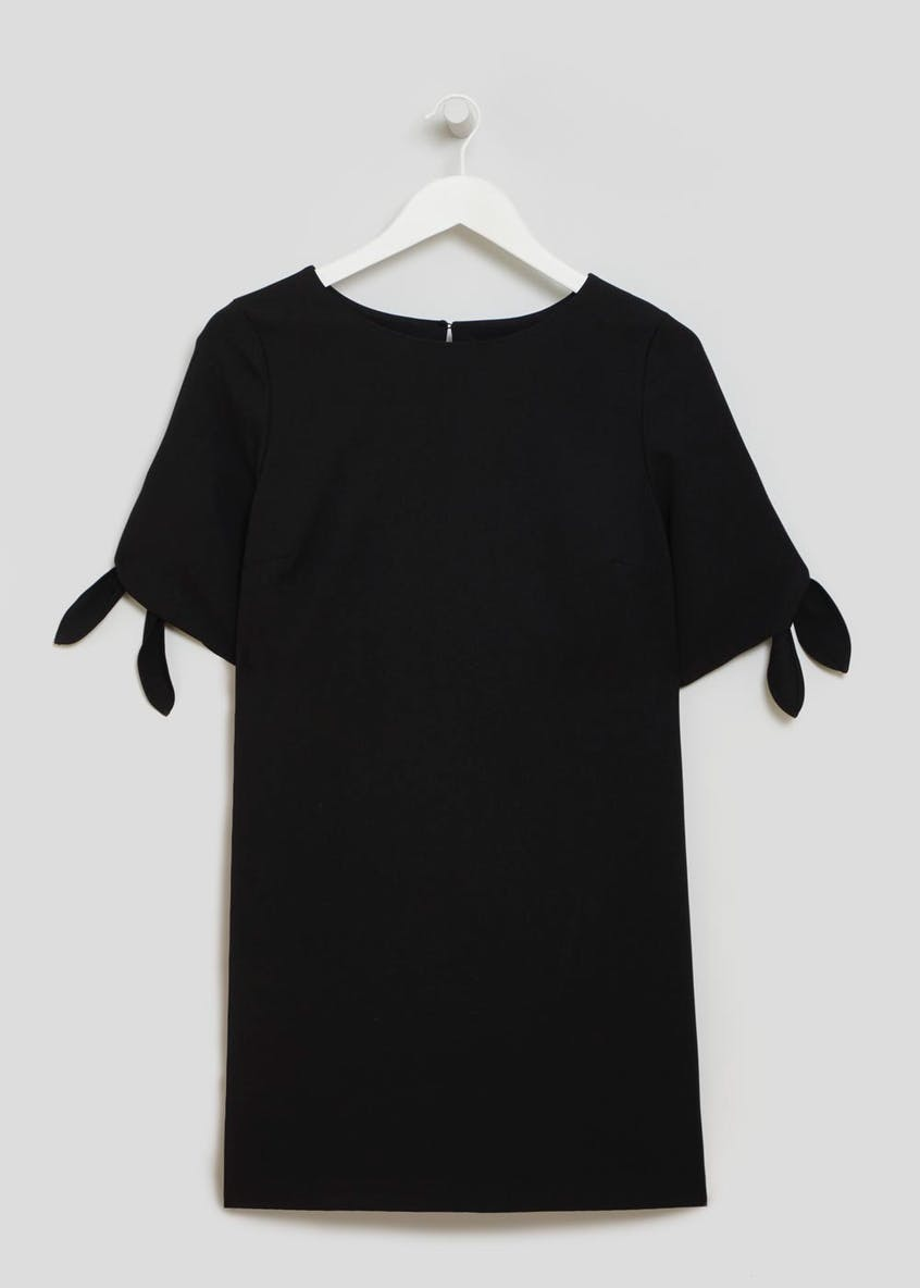 Tie Sleeve Bi-Stretch Dress