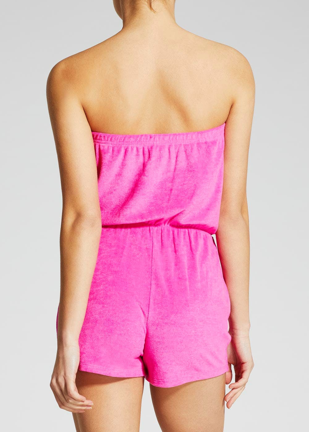 0324c2c638 Towelling Bandeau Playsuit – Pink – Matalan