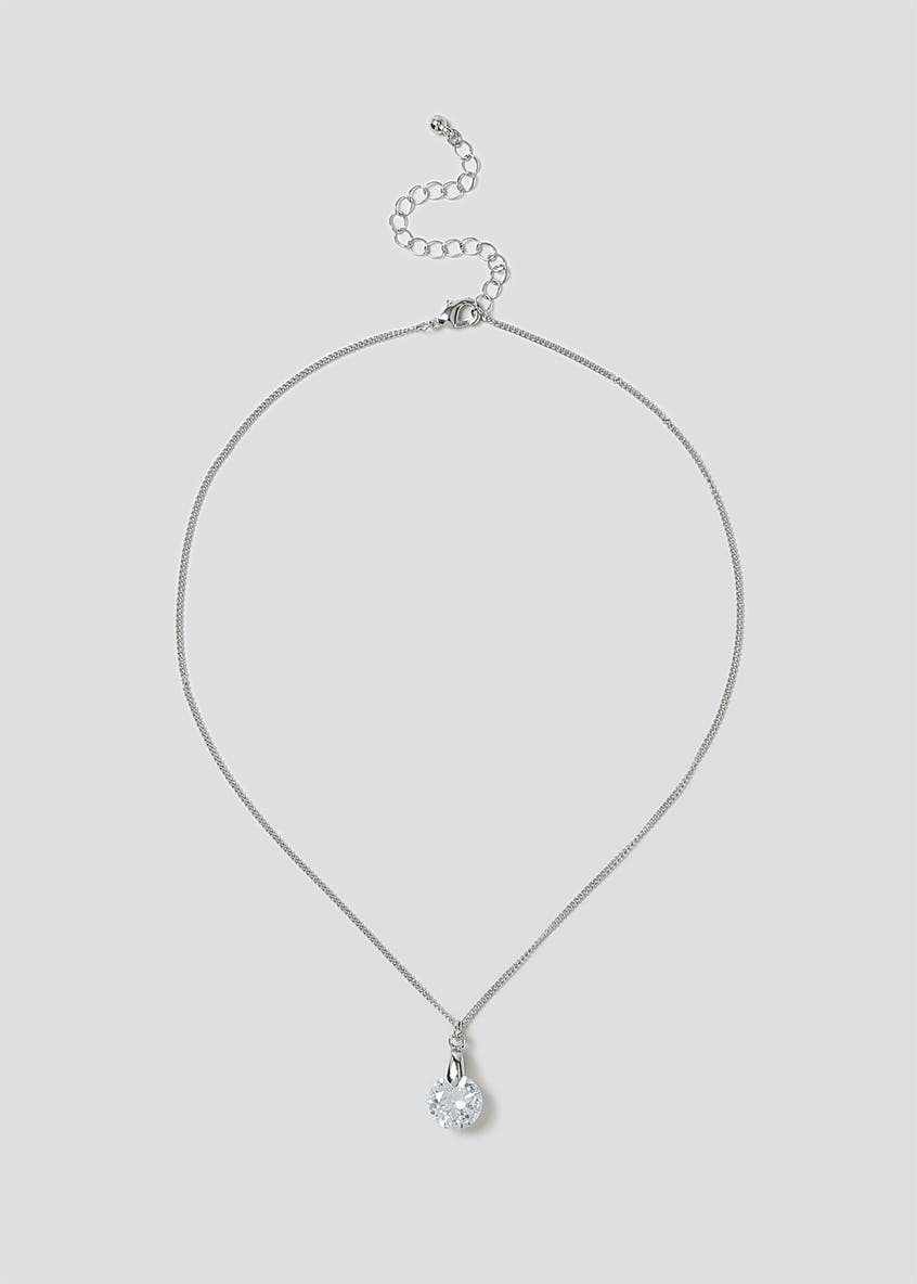 Cubic Zirconia Ditsy Necklace