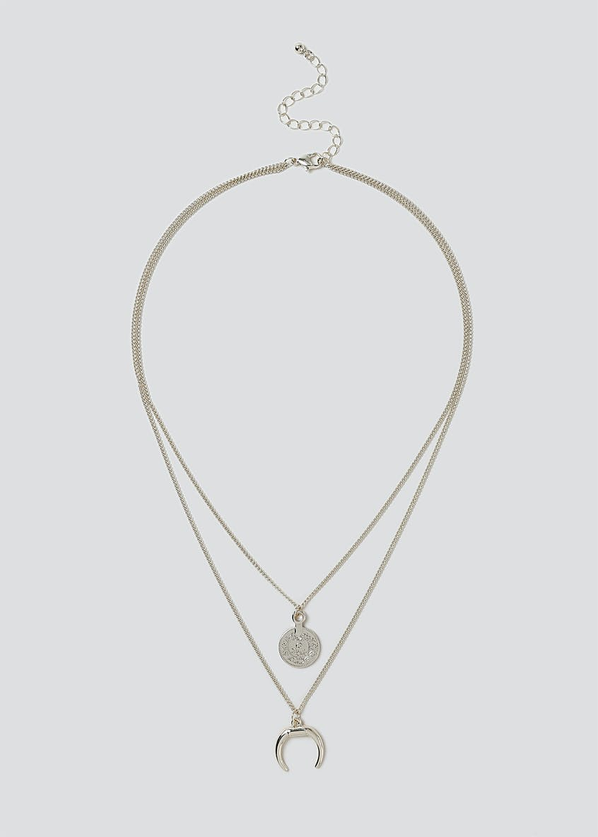 Coin And Horn Necklace