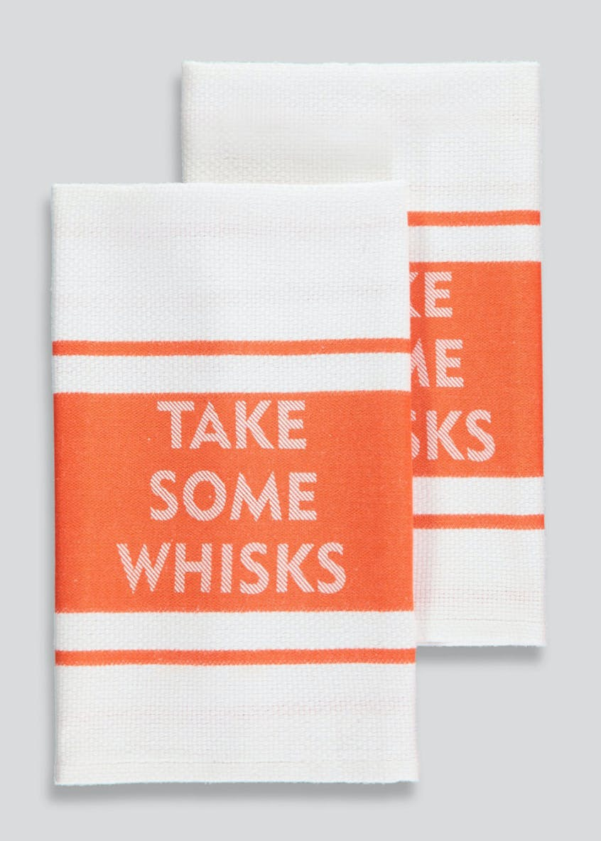 2 Pack Slogan Tea Towels (65cm x 40cm)