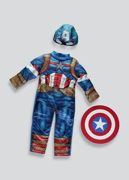 Kids Marvel Captain America Fancy Dress Costume (3-9yrs)