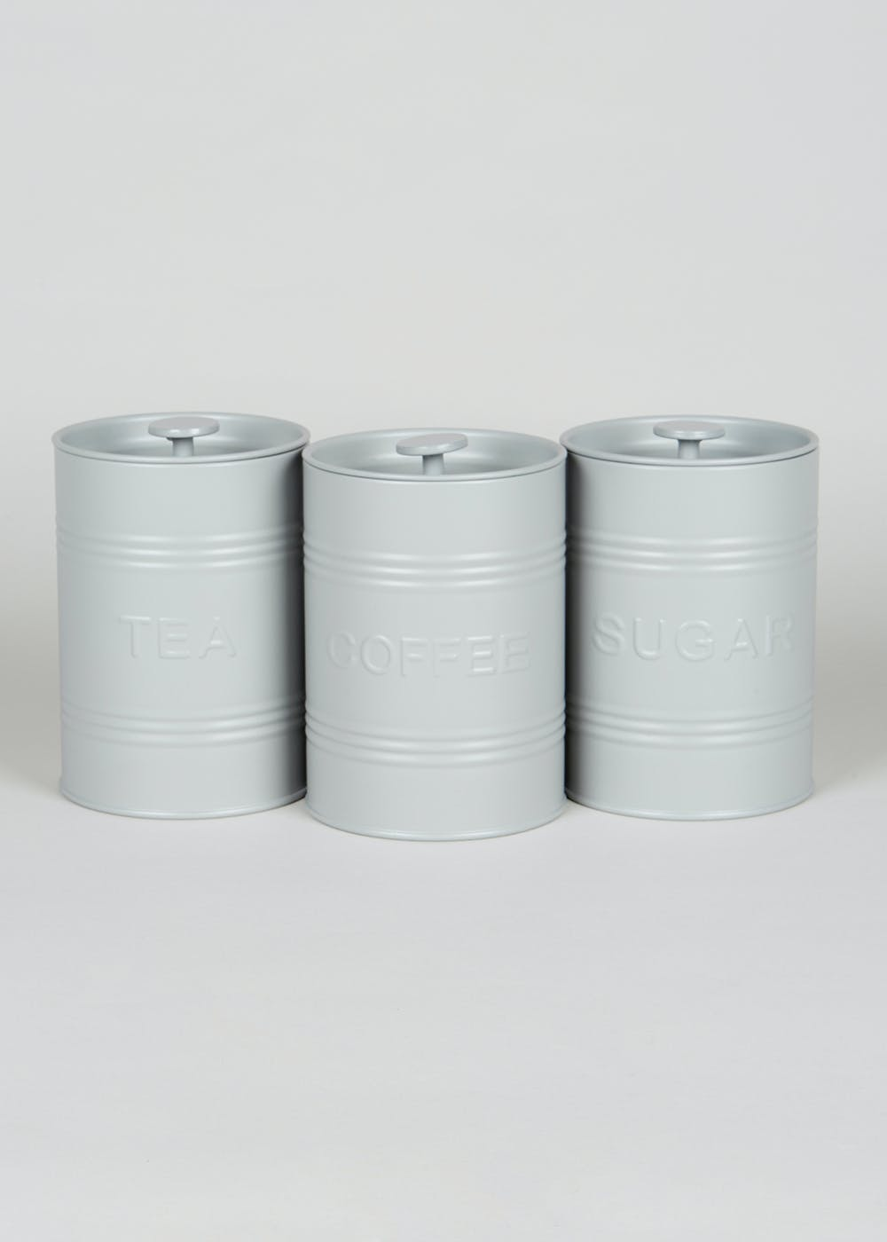 3 Pack Kitchen Canisters 15cm X 12cm