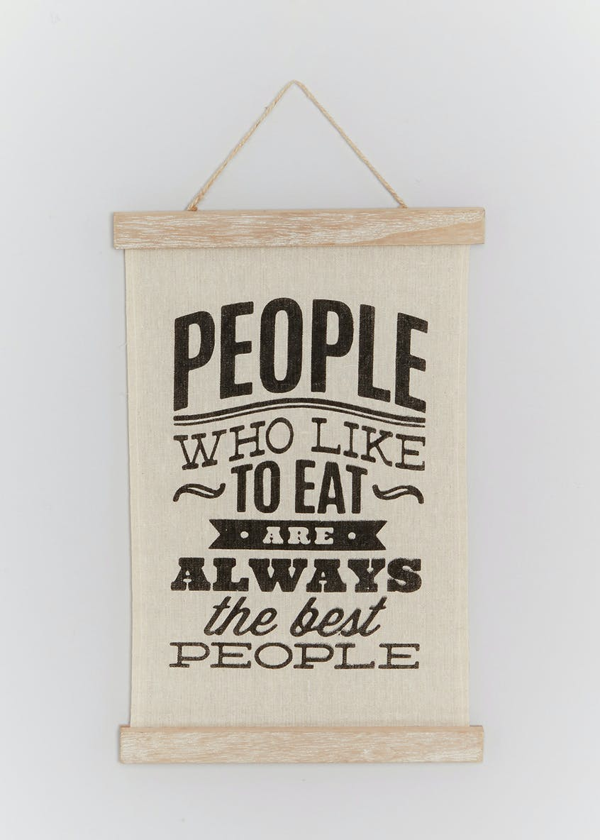 Food Slogan Wall Hanging (21cm)