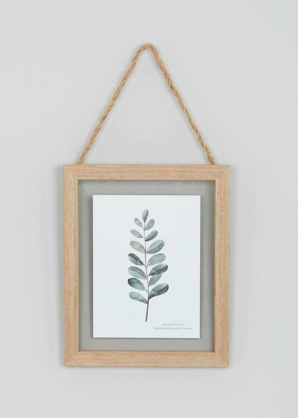 Hanging Wood Frame 25cm X 20cm Natural Matalan