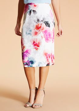 FWM Floral Pencil Skirt