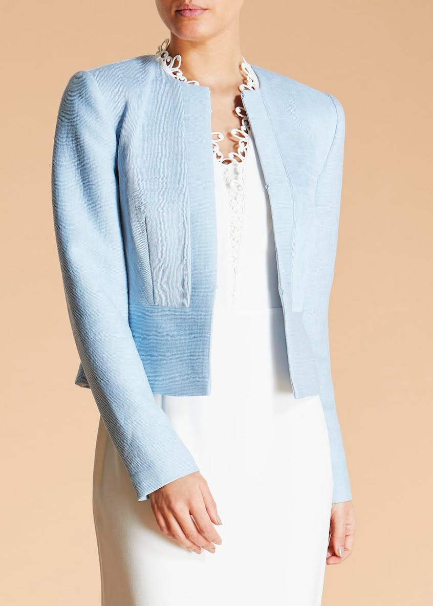 FWM Ribbed Cropped Occasion Jacket