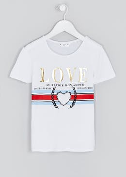Girls Candy Couture Love T-Shirt (9-16yrs)