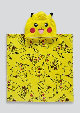 Kids Pokemon Hooded Towel Poncho (One Size)