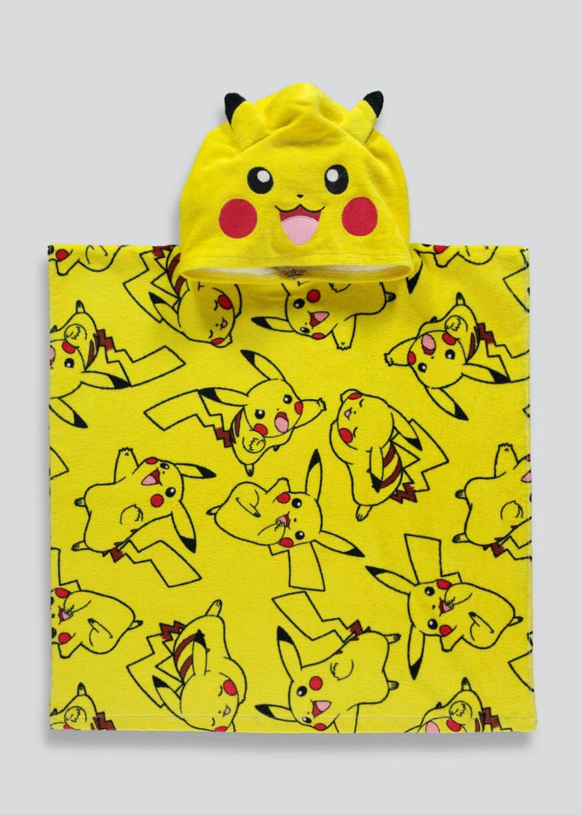 Kids Pokémon Pikachu Hooded Towel Poncho (One Size)