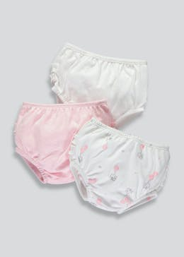 Girls 3 Pack Frill Knickers (Tiny Baby-18mths)