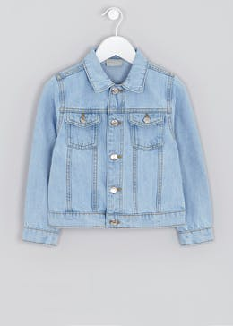 Girls Light Wash Denim Jacket (4-13yrs)
