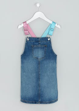 Girls Denim Pinafore (4-13yrs)