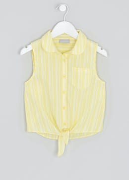 Girls Stripe Tie Front Blouse (4-13yrs)