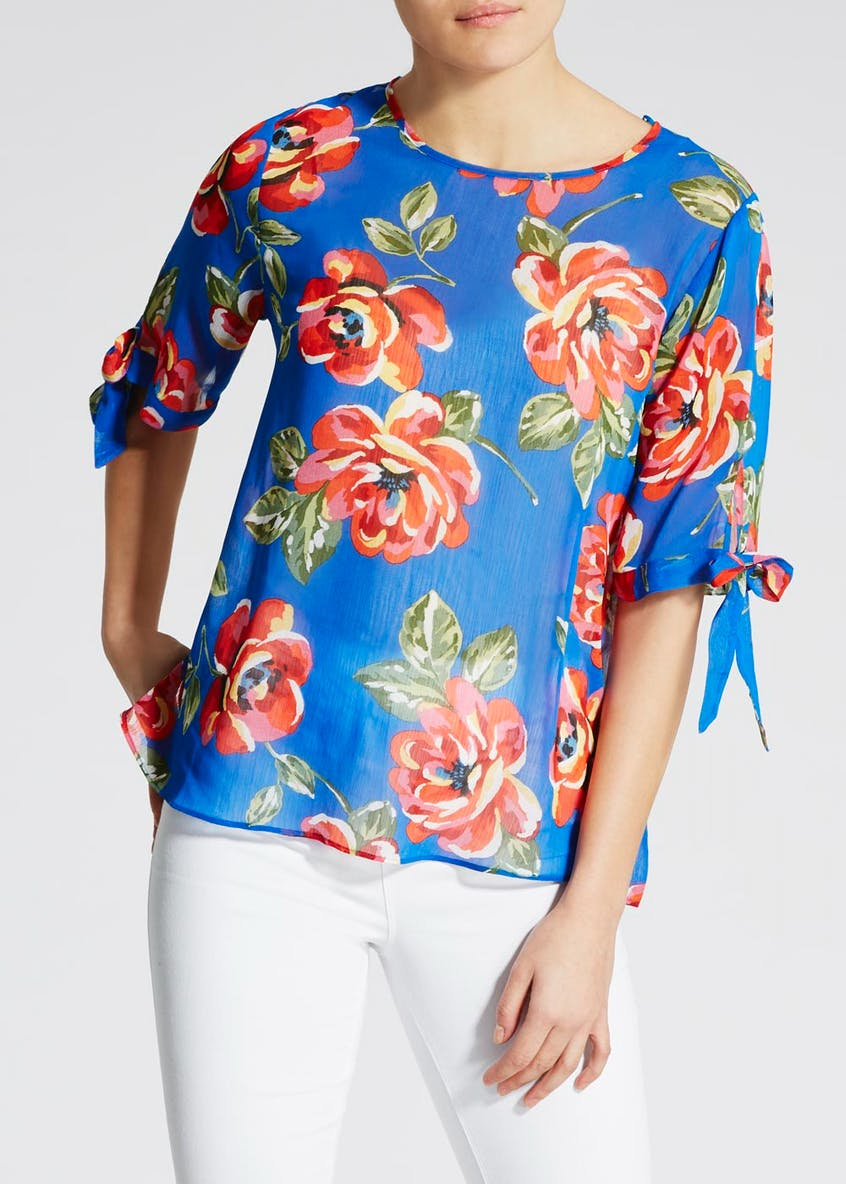 Floral Tie Sleeve Box Top