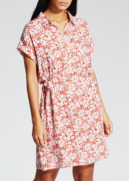 Floral Viscose Shirt Dress