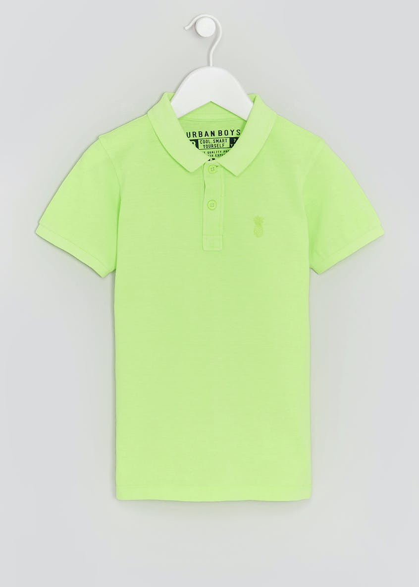 Boys Neon Casual Polo Shirt (4-13yrs)