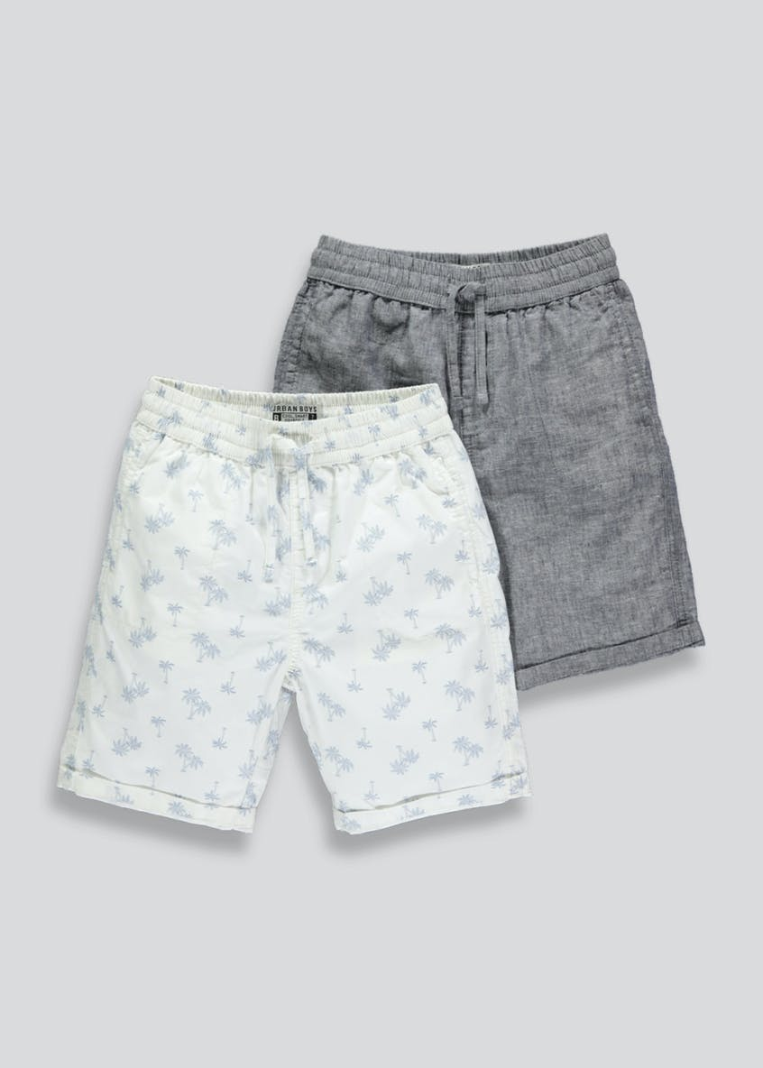 Boys 2 Pack Woven Shorts (4-13yrs)