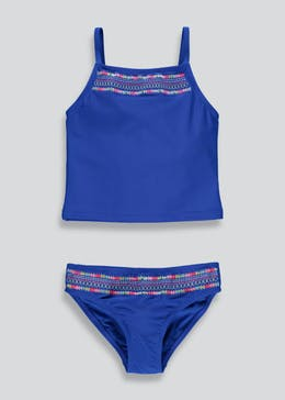 Girls Embroidered Tankini Set (4-13yrs)