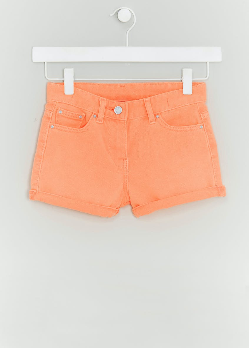 Girls Neon Denim Shorts (4-13yrs)