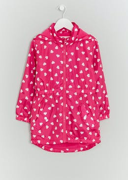 Girls Lightweight Heart Mac (4-13yrs)