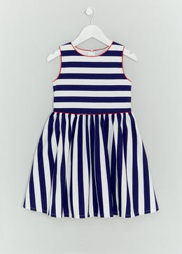 Girls Nautical Stripe Dress (4-13yrs)