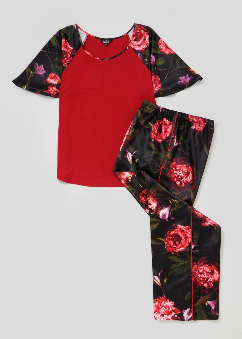Julien Macdonald Floral Satin Pyjama Set