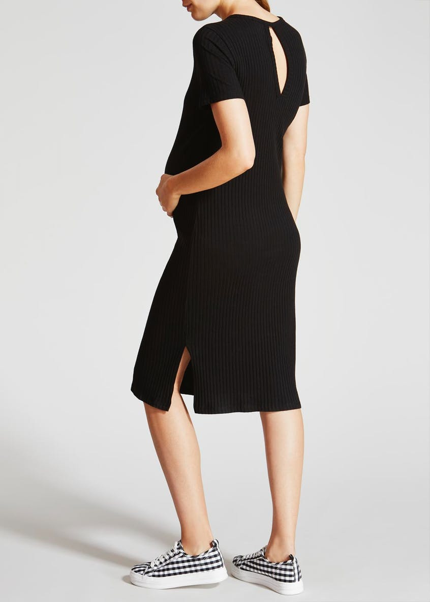 Maternity Ribbed Midi Dress