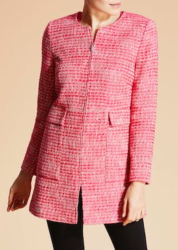 Soon Longline Boucle Textured Jacket
