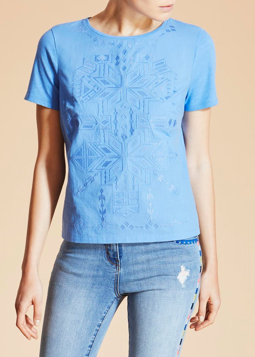 Falmer Aztec Embroidered T-Shirt