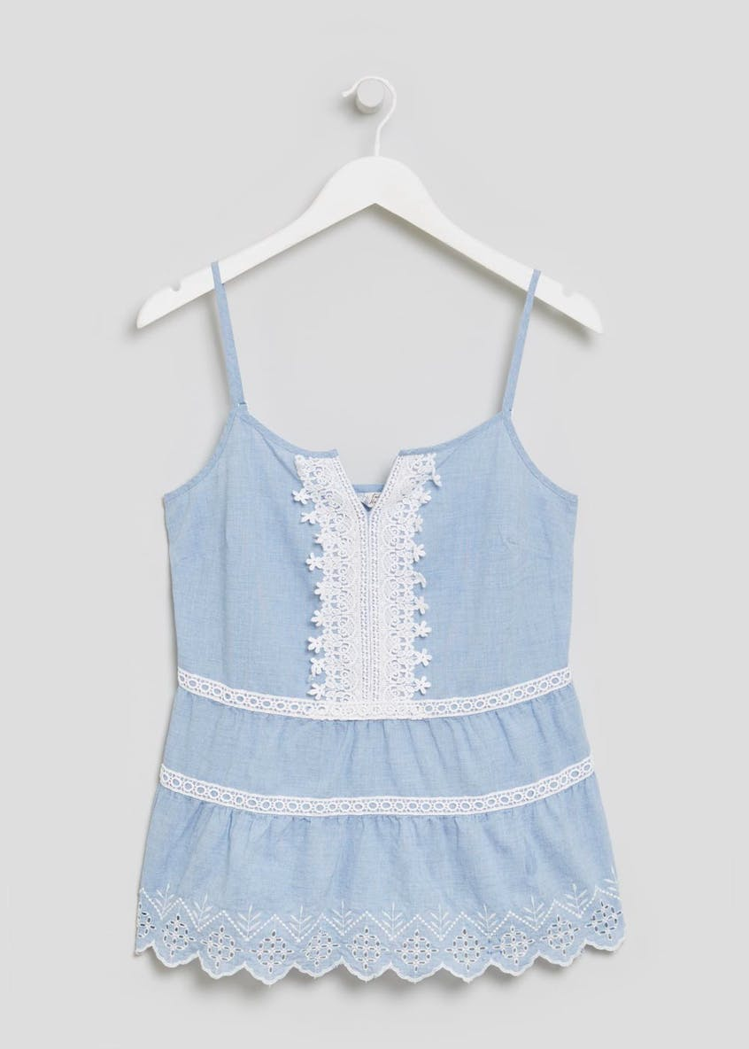 Falmer Embroidered Denim Cami