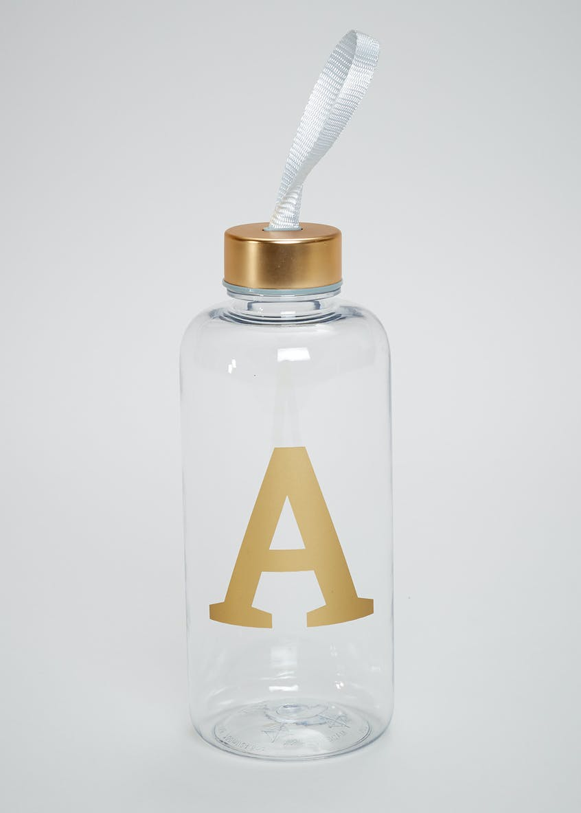Metallic A-Z Water Bottle (19cm)
