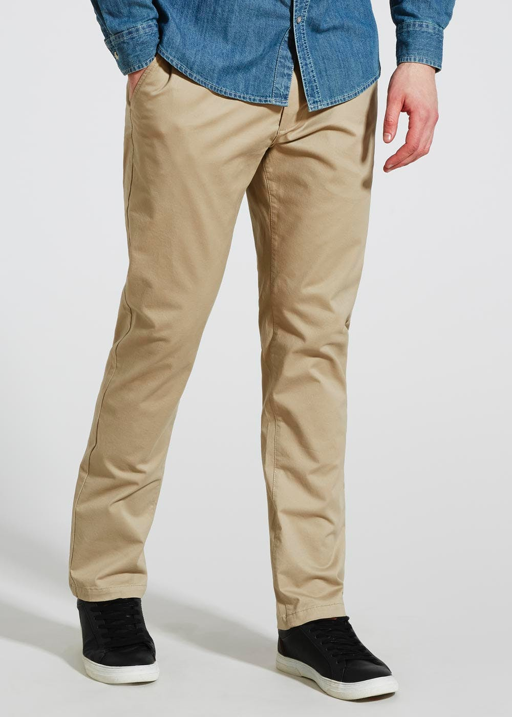 cheap sale in stock cheaper Straight Fit Stretch Chinos – Stone – Matalan