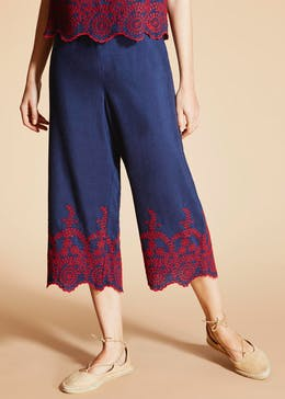 Falmer Embroidered Hem Trousers