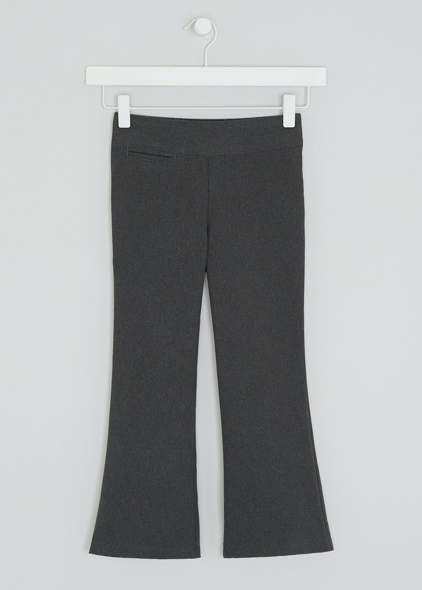 Girls Woven Pocket School Trousers (3-13yrs)