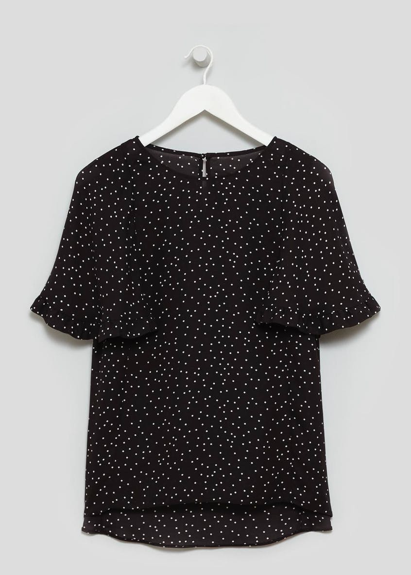 Polka Dot Ruffle Box Top