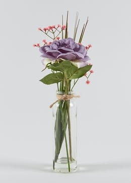 Floral Arrangement in Tall Bottle Vase (35cm)
