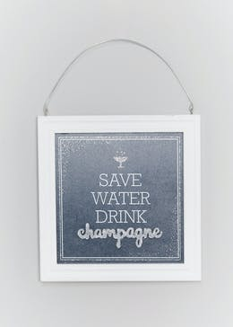 Champagne Framed Hanging Quote (20cm x 20cm x 2cm)