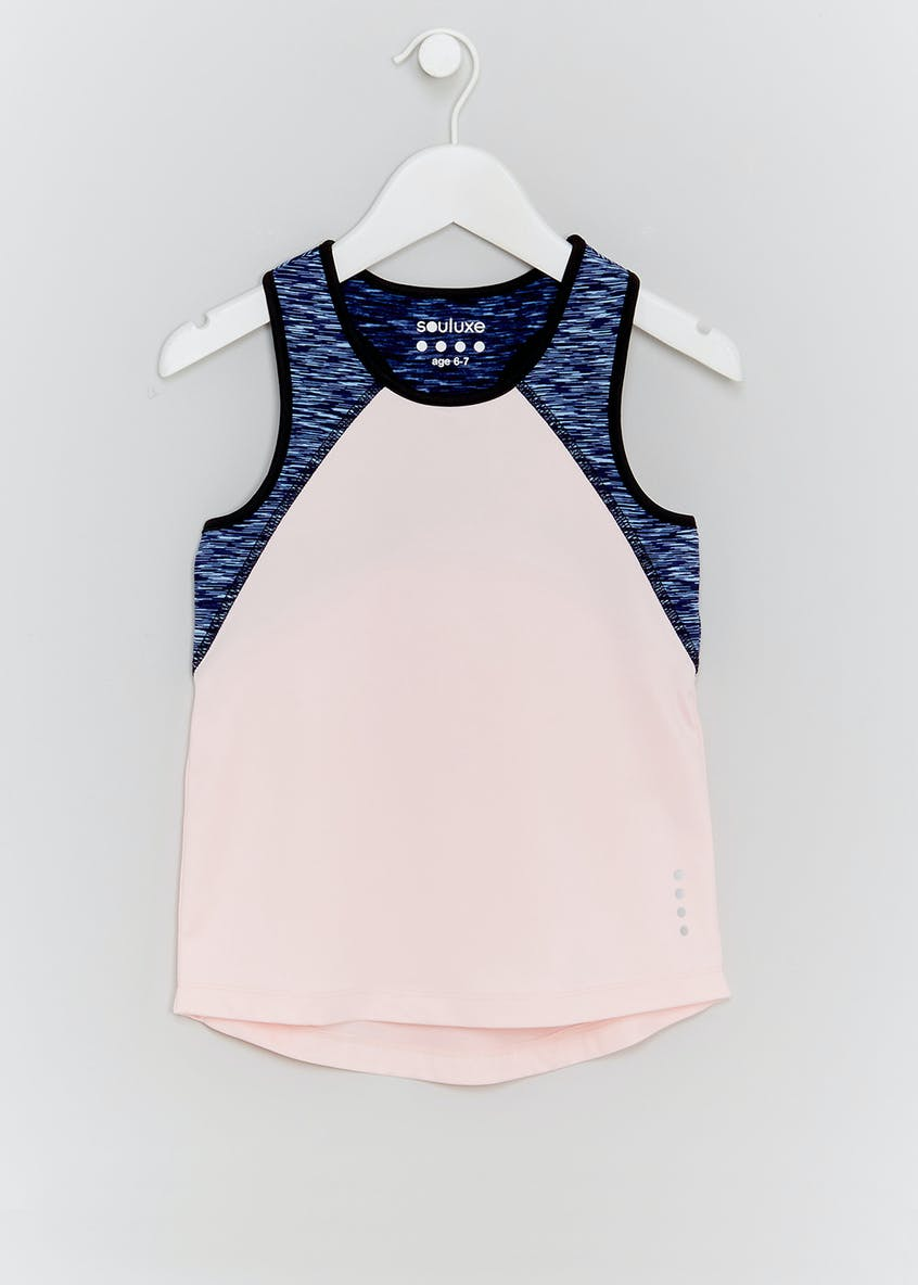 Girls Souluxe Panel Sports Vest (4-13yrs)