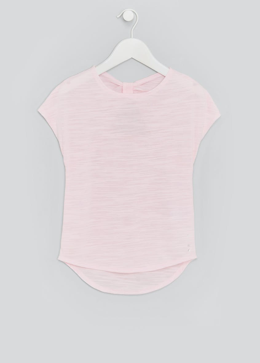 Girls Souluxe Knot Back Sports T-Shirt (4-13yrs)