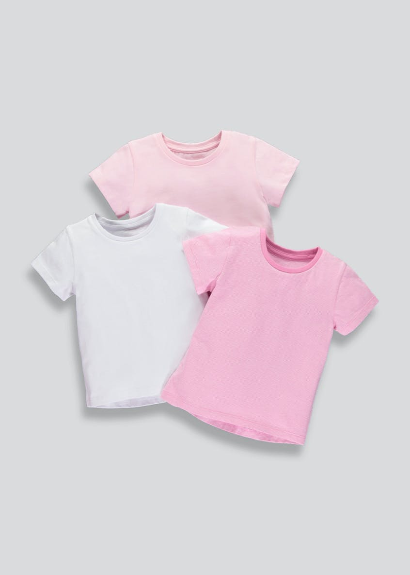 Girls 3 Pack T-Shirts (9mths-6yrs)