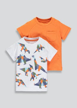 Boys 2 Pack Dinosaur T-Shirts (3mths-6yrs)