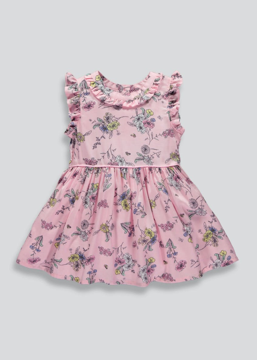 Girls Floral Viscose Dress (3mths-6yrs)