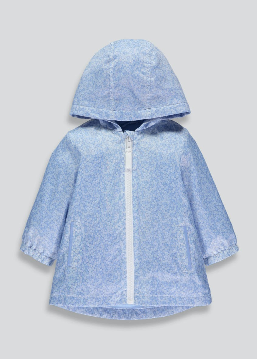 Girls Ditsy Floral Rain Mac (6mths-6yrs)